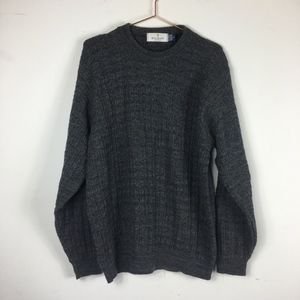 Bill Blass Knit Sweater Gray L A/R